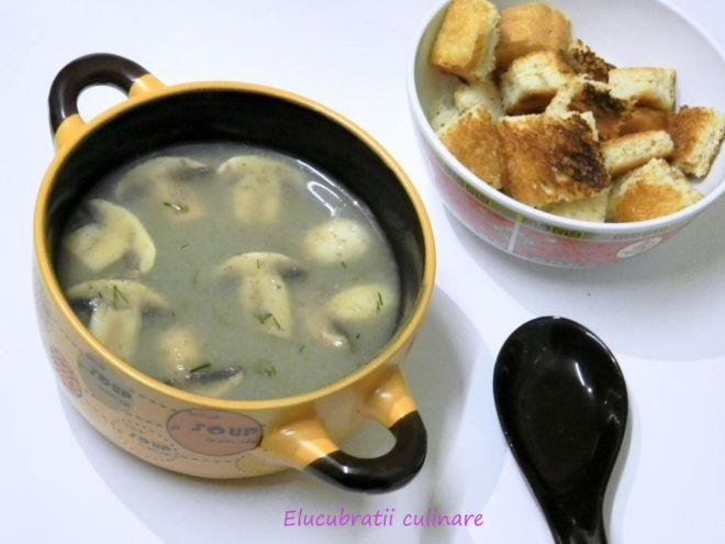 Rețetă Antreuri : Supă cremă de ciuperci de Elucubratiiculinare