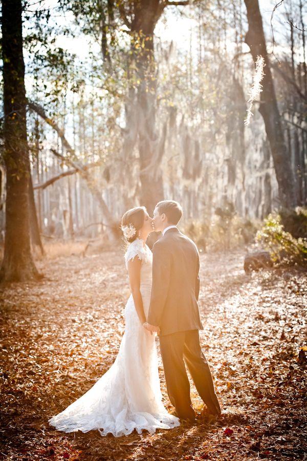 Southern wedding - sunlit portrait