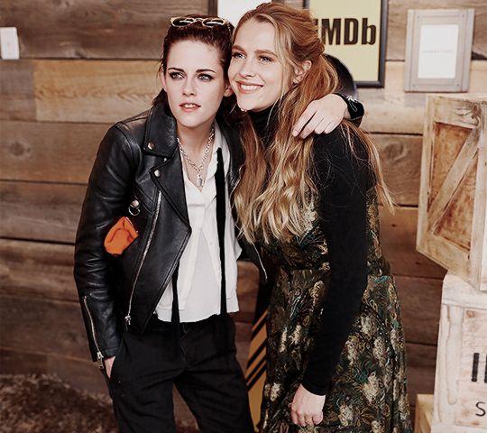 Kristen Stewart and Teresa Palmer at the IMDB Studio