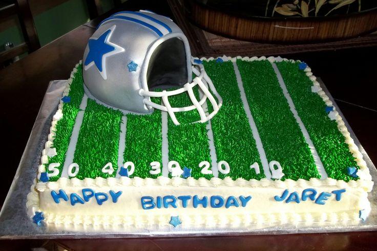 Dallas Cowboy Football Cake