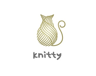"""""""Knitty"""" By Miroslav Vujovic Graforidza. love the yarn cat. not sure about the typo, though"""