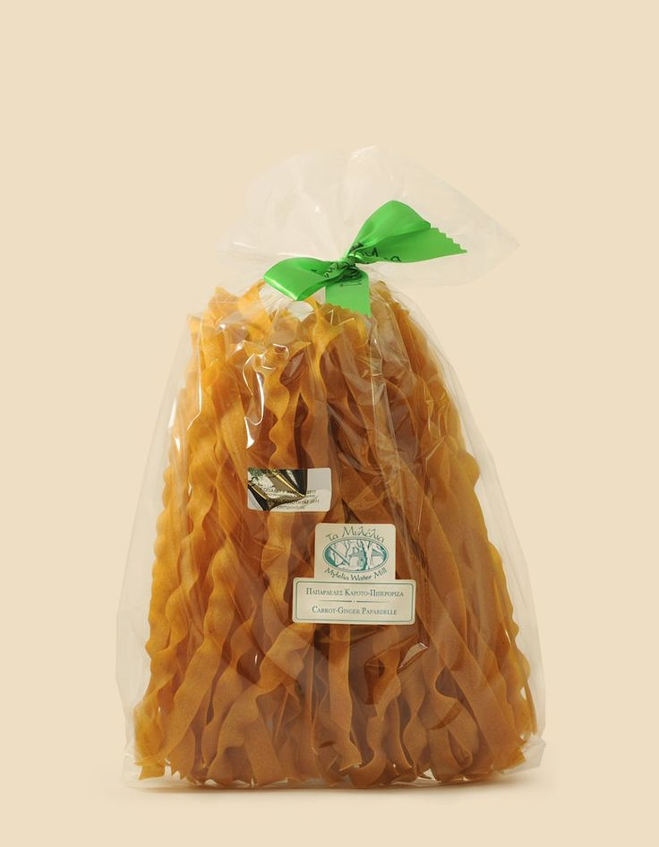 Carrot & Ginger Pappardelle #Mylelia #Carrot #Ginger #FlavouredPasta #HealthyFood #GreekProducts #instagood