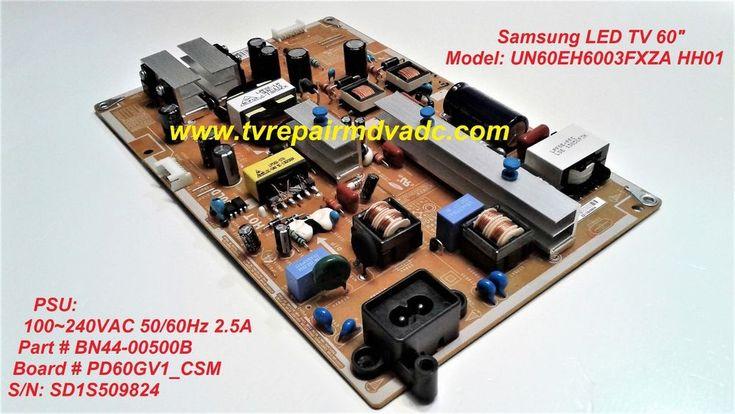 SAMSUNG UN60EH6003FXZA PSU BN44-00500B. TESTED. SERVICE MODE TIP. IMPORTANT NEWS #Samsung