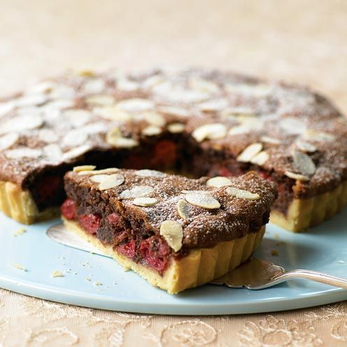 Chocolate and cherries are a great combination, and marry perfectly in this dark and mysterious tart.