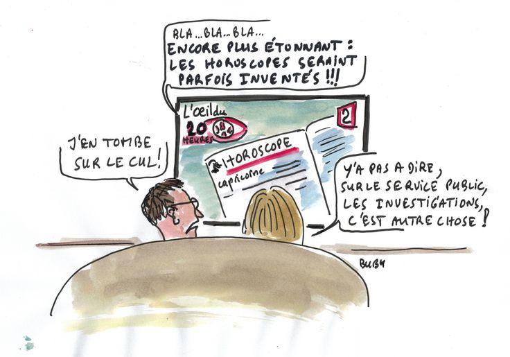 """Lundi  02-01-17, """"L'oeil du 20H"""" au journal France 2 : on en apprend de belles ! les horoscopes seraient inventés... incroyable !!!"""
