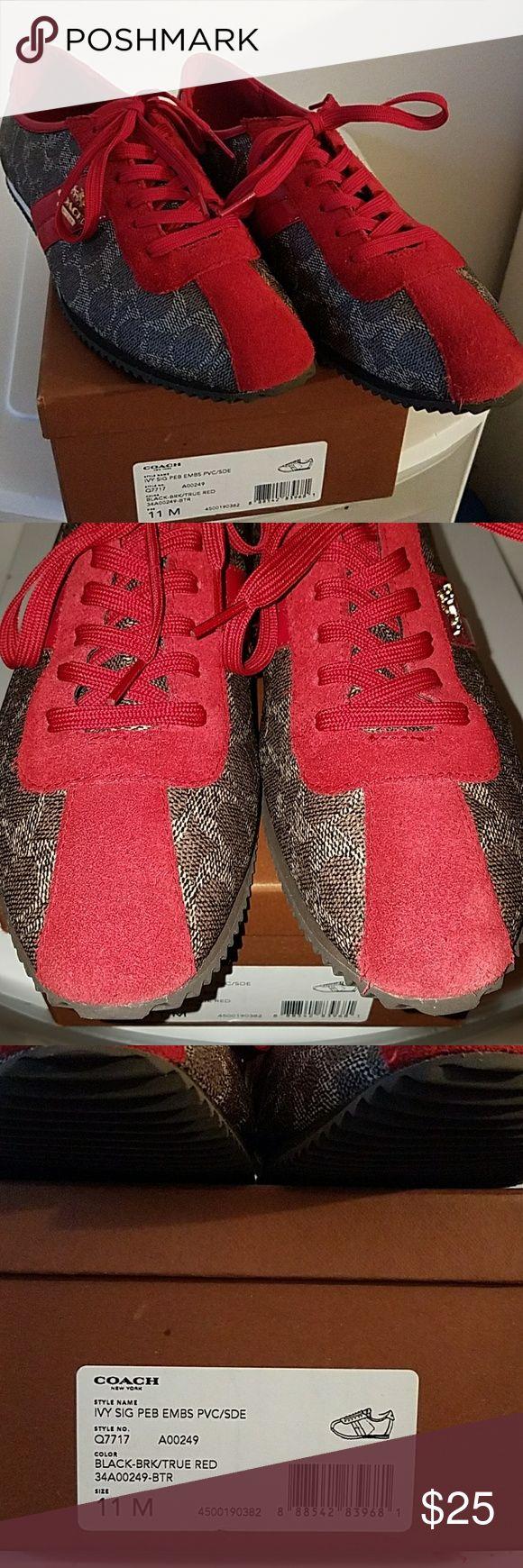 Spotted while shopping on Poshmark: Used ivy signature coach sneaker! #poshmark #fashion #shopping #style #Coach #Shoes