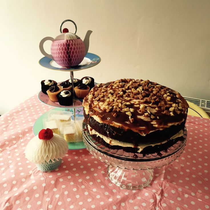 Sticky toffee cake for afternoon tea