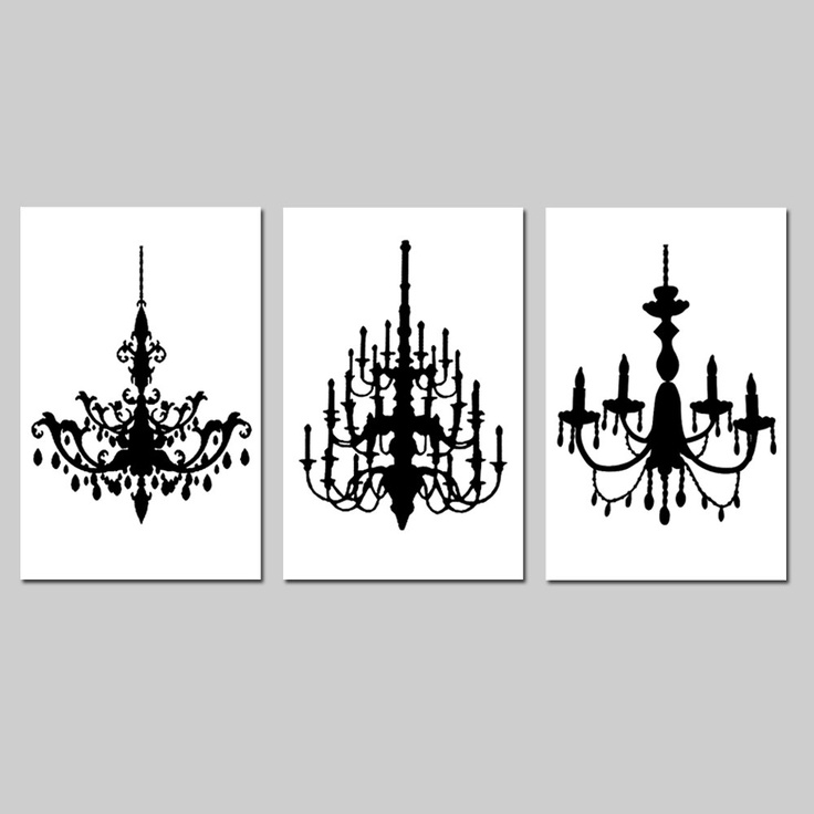 chandelier silhouettes - Google Search