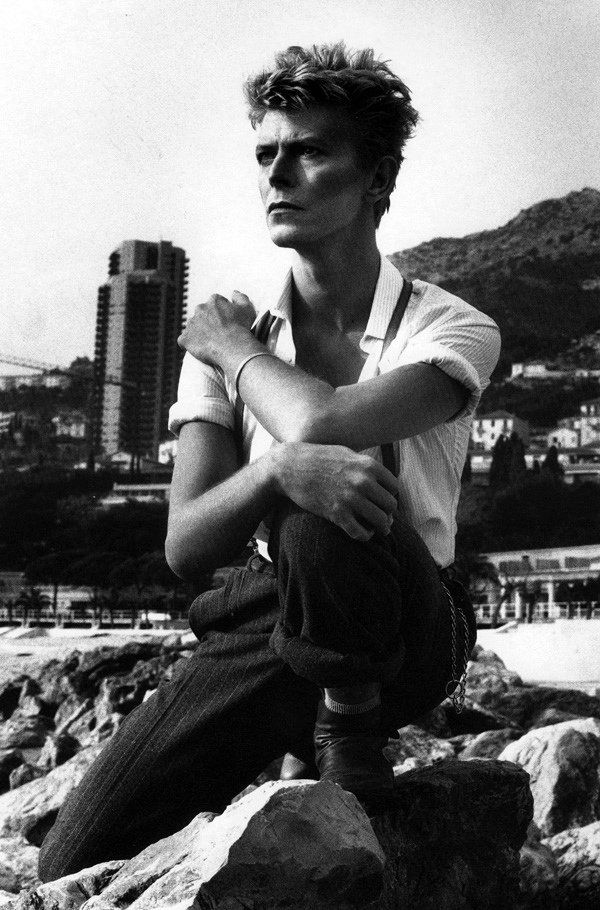 Bowie by Helmut Newton [Bowie just about IS blurred gender]
