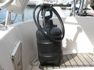 Showering tips on board a boat.  There are ways to get squeeky clean and still conserve water.