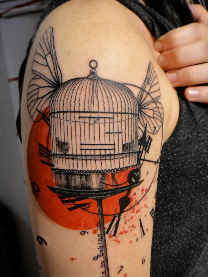 92 best bird cage tattoos images on pinterest bird cage tattoos tattoo ideas and tattoo. Black Bedroom Furniture Sets. Home Design Ideas