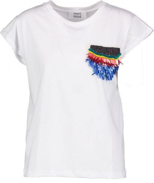 Witte T-Shirt Heart Mind