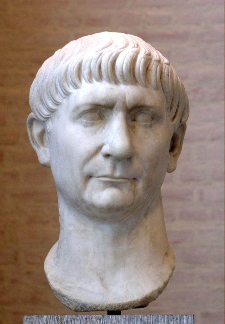 """Trajan was Roman emperor from 98 AD until his death. Officially declared by the Senate as optimus princeps (""""the best ruler""""), Trajan is remembered as a successful soldier-emperor who presided over the greatest military expansion in Roman history, leading the empire to attain its maximum territorial extent by the time of his death.  Known as one of the 5 good emperors."""