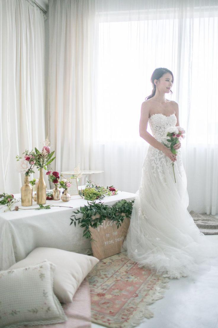 Crystal Li Bridal Shower   mira zwillinger Charlie dress