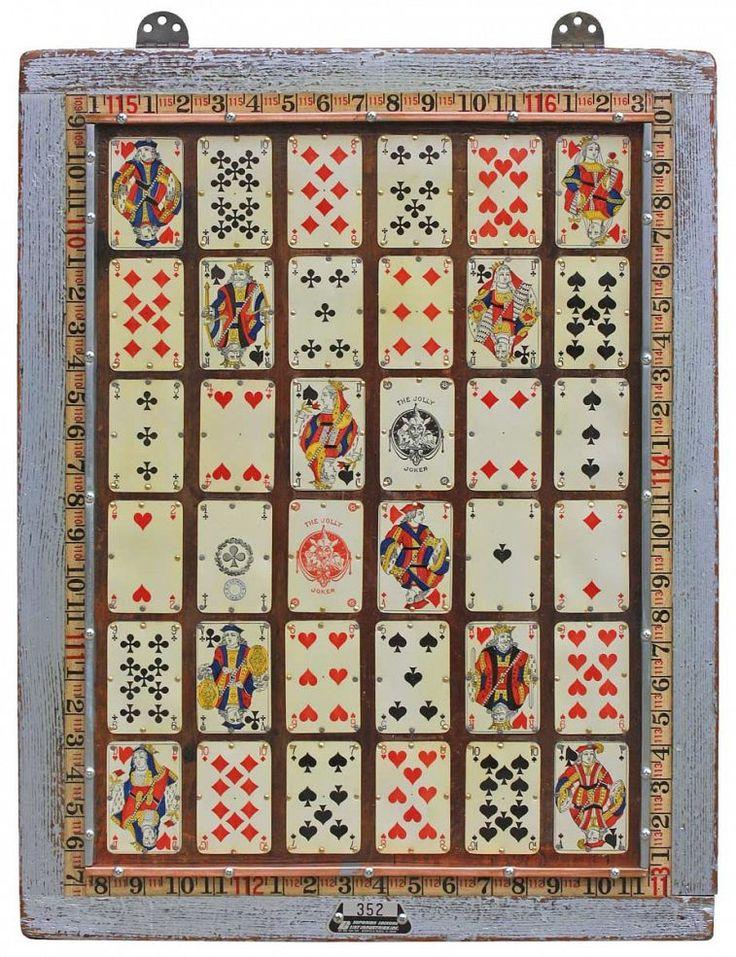 Vintage Playing Cards Original Wall Art
