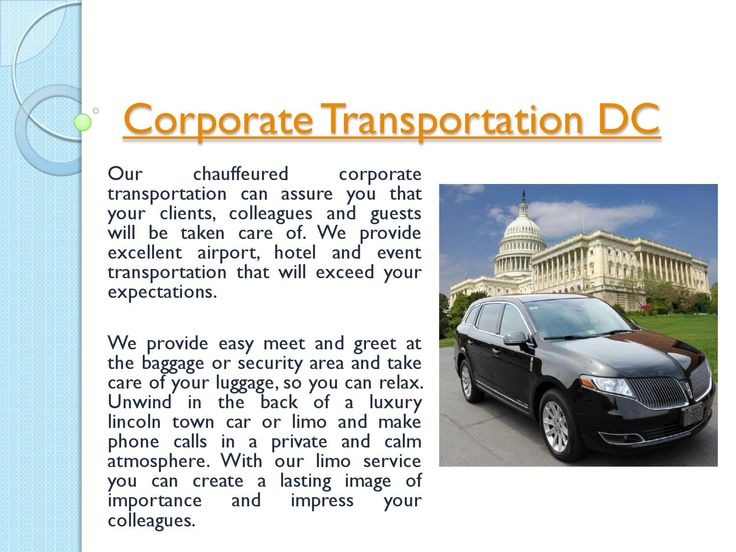 Try this site http://www.nationwidecar.com for more information on Airport Car Service DC. When it comes down to it, deciding on the appropriate Corporate Transportation DC solution can have an enormous impact on just how your customers remember their check out with you. Keeping that in thoughts, it simply makes good sense that you would wish the most effective.