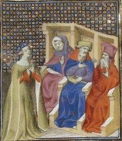 Giovanni Boccaccio, De Claris mulieribus; Paris Bibliothèque nationale de France MSS Français 598; French; 1403, 124v. http://www.europeanaregia.eu/en/manuscripts/paris-bibliotheque-nationale-france-mss-francais-598/en