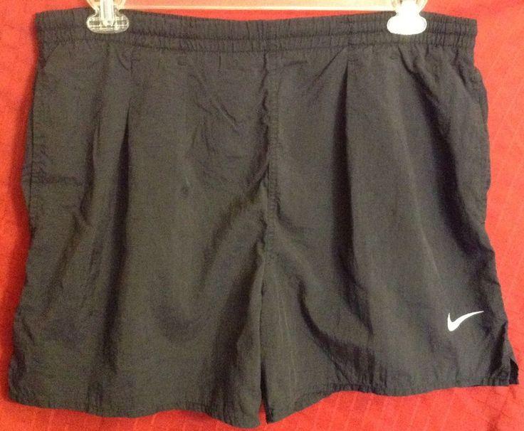 Nike Mens Swim Trunks Shorts Black Swoosh Sz M GUC | Clothing, Shoes & Accessories, Men's Clothing, Swimwear | eBay!