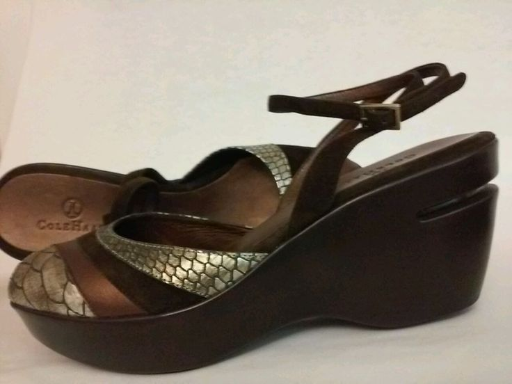 Cape Animal Print Wedge Sandals Size 10