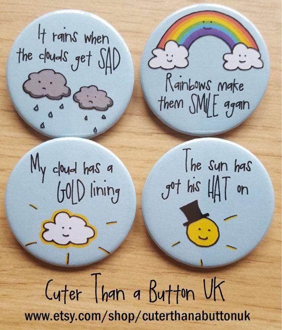 Badge or Magnet Set  4x 38mm Button Badges or Magnets