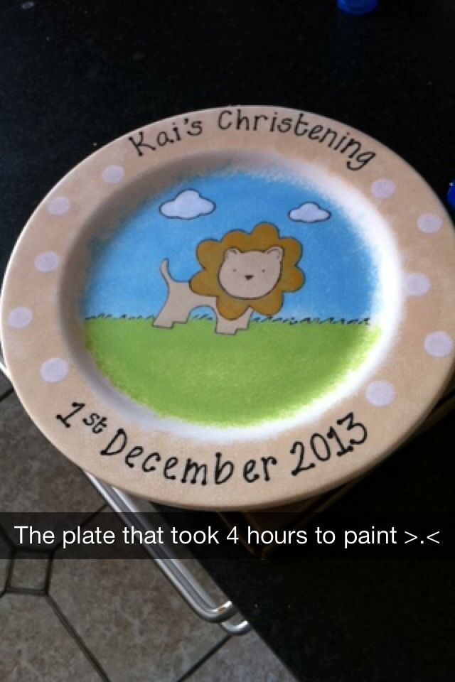 Christening Plate :) I painted!