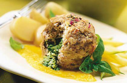 Les mini-pains de viande à la florentine, une autre délicieuse façon de savourer le porc du Québec.
