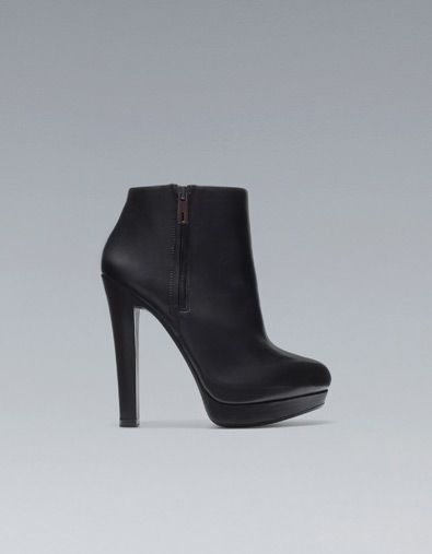 WIDE HEEL ANKLE BOOT - Shoes - Woman - ZARA Canada