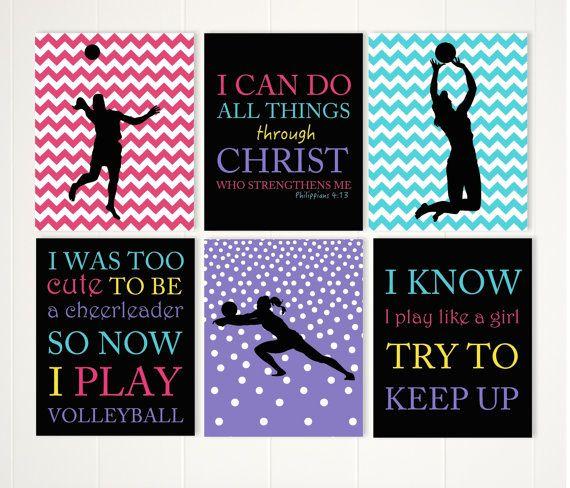 Girl Volleyball Wall Art, Inspirational Girls Art, Gift For Teen Girl, Teen  Wall Part 60