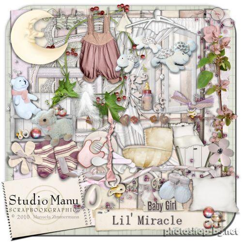 Charming children's scrap-kit for girls - Baby Girl