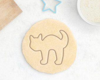 Taglierina del biscotto di gatto - Halloween Cookie Cutter Set animali Cookie Cutter Meow strega cappello spaventoso fantasma carino fondente Cutter gatto nero amante