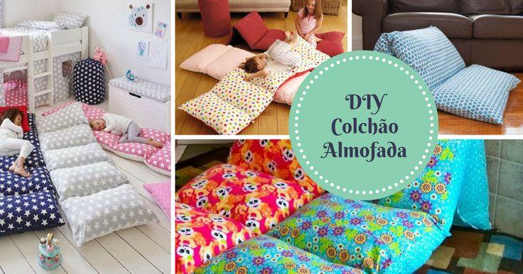 DIY Colchão de Almofadas para Crianças - http://coisasbebes.com/diy-colchao-almofadas-criancas/