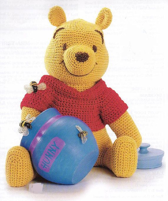 Winnie the Pooh Amigurumi Pattern in English