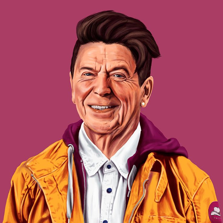 What Your Favorite Political Leaders Would Look Like As Hipsters // Ronald Reagan