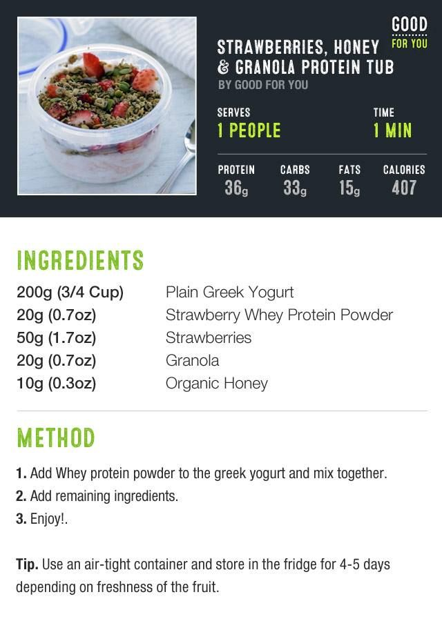 Strawberry Honey Granola Protein Tub