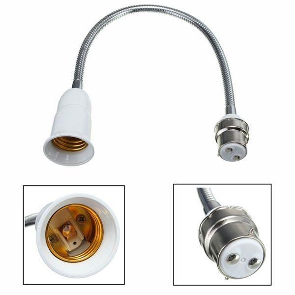 B22 To E27 Light Bulb Lamp Adapter Holder Flexible Socket Extension Converter Bulb Adapter Light Accessories Light Bulb Lamp