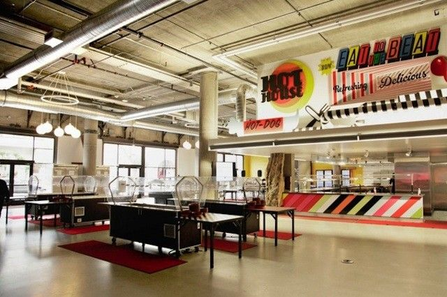 1000 images about best corporate cafeterias on pinterest for Zynga office design