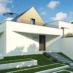 Zx145 - Dom jednorodzinny z garażem jednostanowiskowym...