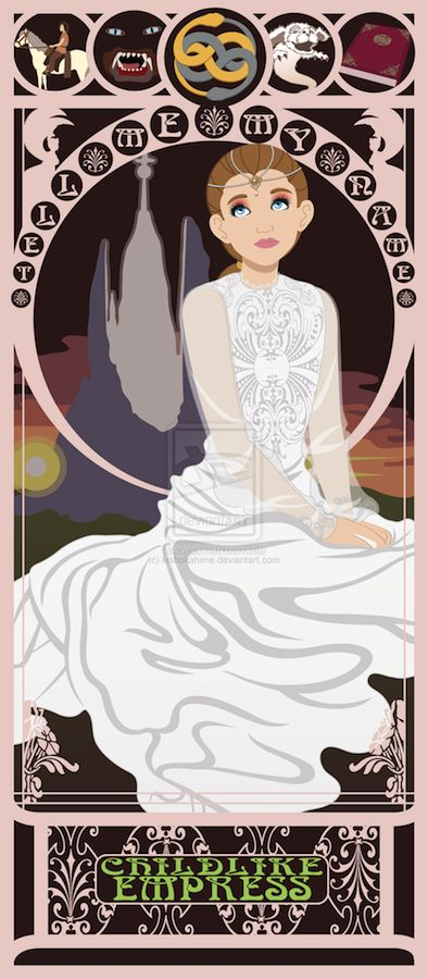 ART NOUVEAU PRINTS FOR ALL THE NON-DISNEY PRINCESSES: The Childlike Empress from The Neverending Story