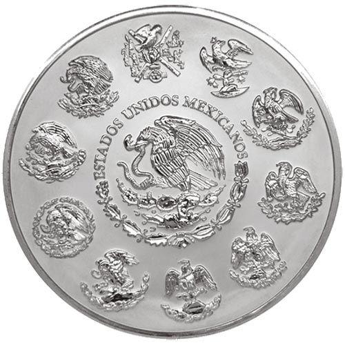 Moneda 2 onzas de plata Mexico 2014, Tienda Numismatica y Filatelia Lopez, compra venta de monedas oro y plata, sellos españa, accesorios Leuchtturm