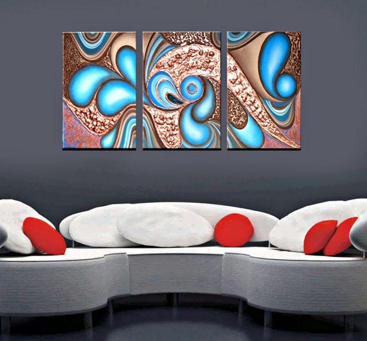 Quadri dipinti a mano roteando in blu sjmy1628 quadri for Tele astratte dipinte a mano