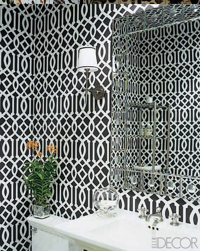 17 best images about powder room wallpaper on pinterest powder vanities and sinks. Black Bedroom Furniture Sets. Home Design Ideas