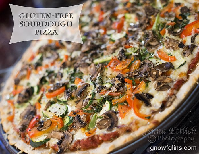 Gluten-Free Sourdough Pizza | Who could give up pizza? With an array of suggested dietary approaches and eliminations these days, the thought of giving up classic dishes like pizza is rather sad! I am here to tell you that it is absolutely possible to make a delicious whole food gluten-free pizza that will wow your family and friends. | GNOWFGLINS.com