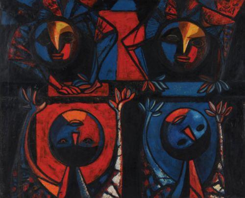 Carlos Cañas| 1924-2013| Salvadoran Sin título|1960 oil on canvas