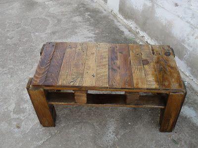 τραπέζια απο παλετες