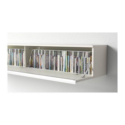 BESTÅ BURS Wall shelf - high gloss white - IKEA