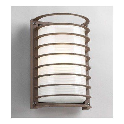 Evora Outdoor Wall Sconce Finish: Architectural Bronze by PLC Lighting. $57.60. 2038-FROST-BZ Finish: Architectural Bronze Features: -One light wall sconce.-Glass shade.-Suitable for wet location. Options: -Available in architectural bronze or white finish. Construction: -Die cast aluminum construction. Specifications: -Accommodates (1) 75W A19 bulb (not included). Dimensions: -Overall dimensions: 10.5'' H x 7'' W x 4.75'' D.