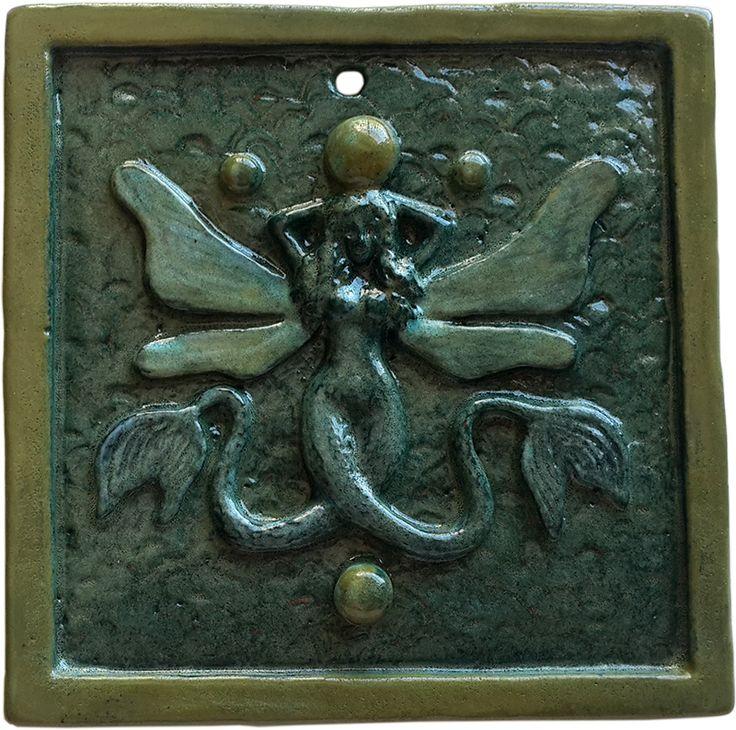 Mermaid tile - Rowena Quinan