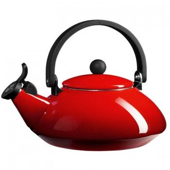 """Le Creuset """"Cerise Red"""" Zen Stove-top Kettle with Whistle"""