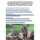 Are zoos humane essay