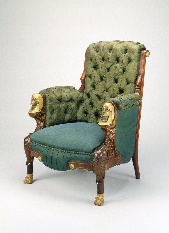 Pottier & Stymus, c1870, Egyptian Revival, rosewood, burl, walnut, gilt, Brooklyn Museum